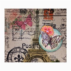 Floral Scripts Butterfly Eiffel Tower Vintage Paris Fashion Canvas 36  X 48  (unframed) by chicelegantboutique