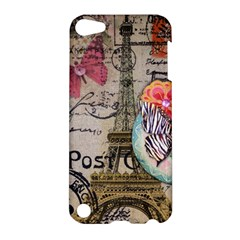Floral Scripts Butterfly Eiffel Tower Vintage Paris Fashion Apple Ipod Touch 5 Hardshell Case by chicelegantboutique