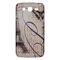 Vintage Scripts Floral Scripts Butterfly Eiffel Tower Vintage Paris Fashion Samsung Galaxy Mega 5 8 I9152 Hardshell Case  by chicelegantboutique