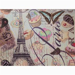 French Pastry Vintage Scripts Floral Scripts Butterfly Eiffel Tower Vintage Paris Fashion Canvas 12  X 16  (unframed) by chicelegantboutique