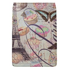 French Pastry Vintage Scripts Floral Scripts Butterfly Eiffel Tower Vintage Paris Fashion Removable Flap Cover (small) by chicelegantboutique