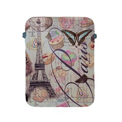 French Pastry Vintage Scripts Floral Scripts Butterfly Eiffel Tower Vintage Paris Fashion Apple Ipad 2/3/4 Protective Soft Case by chicelegantboutique