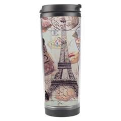 French Pastry Vintage Scripts Floral Scripts Butterfly Eiffel Tower Vintage Paris Fashion Travel Tumbler by chicelegantboutique