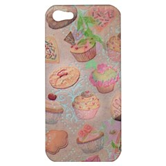 French Pastry Vintage Scripts Cookies Cupcakes Vintage Paris Fashion Apple Iphone 5 Hardshell Case by chicelegantboutique