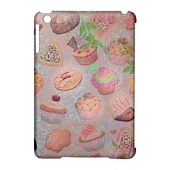 French Pastry Vintage Scripts Cookies Cupcakes Vintage Paris Fashion Apple Ipad Mini Hardshell Case (compatible With Smart Cover) by chicelegantboutique