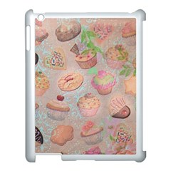 French Pastry Vintage Scripts Cookies Cupcakes Vintage Paris Fashion Apple Ipad 3/4 Case (white) by chicelegantboutique