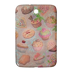 French Pastry Vintage Scripts Cookies Cupcakes Vintage Paris Fashion Samsung Galaxy Note 8 0 N5100 Hardshell Case  by chicelegantboutique