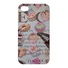 French Pastry Vintage Scripts Floral Scripts Butterfly Eiffel Tower Vintage Paris Fashion Apple Iphone 4/4s Premium Hardshell Case