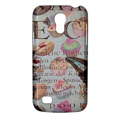 French Pastry Vintage Scripts Floral Scripts Butterfly Eiffel Tower Vintage Paris Fashion Samsung Galaxy S4 Mini Hardshell Case  by chicelegantboutique