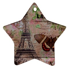 Girly Bee Crown  Butterfly Paris Eiffel Tower Fashion Star Ornament by chicelegantboutique