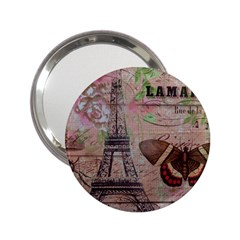 Girly Bee Crown  Butterfly Paris Eiffel Tower Fashion Handbag Mirror (2 25 ) by chicelegantboutique