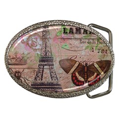 Girly Bee Crown  Butterfly Paris Eiffel Tower Fashion Belt Buckle (oval) by chicelegantboutique
