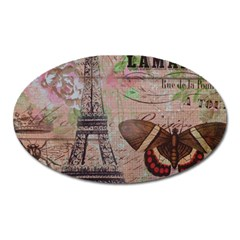 Girly Bee Crown  Butterfly Paris Eiffel Tower Fashion Magnet (oval)