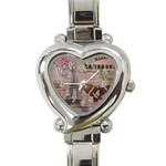 Girly Bee Crown  Butterfly Paris Eiffel Tower Fashion Heart Italian Charm Watch  Front
