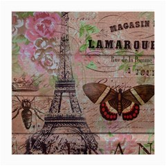 Girly Bee Crown  Butterfly Paris Eiffel Tower Fashion Glasses Cloth (medium, Two Sided) by chicelegantboutique
