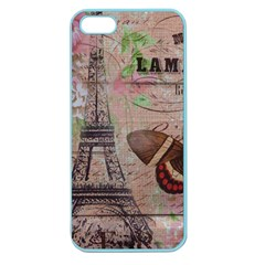 Girly Bee Crown  Butterfly Paris Eiffel Tower Fashion Apple Seamless Iphone 5 Case (color) by chicelegantboutique