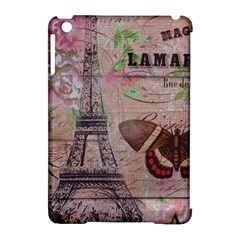 Girly Bee Crown  Butterfly Paris Eiffel Tower Fashion Apple Ipad Mini Hardshell Case (compatible With Smart Cover) by chicelegantboutique