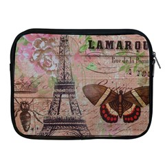 Girly Bee Crown  Butterfly Paris Eiffel Tower Fashion Apple Ipad 2/3/4 Zipper Case by chicelegantboutique