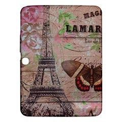Girly Bee Crown  Butterfly Paris Eiffel Tower Fashion Samsung Galaxy Tab 3 (10 1 ) P5200 Hardshell Case  by chicelegantboutique