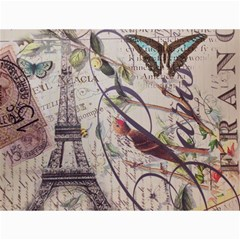 Paris Eiffel Tower Vintage Bird Butterfly French Botanical Art Canvas 12  X 16  (unframed) by chicelegantboutique