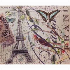Paris Eiffel Tower Vintage Bird Butterfly French Botanical Art Canvas 20  X 24  (unframed) by chicelegantboutique