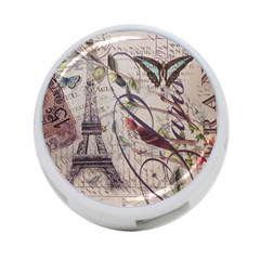 Paris Eiffel Tower Vintage Bird Butterfly French Botanical Art 4 Port Usb Hub (one Side) by chicelegantboutique