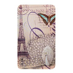 White Peacock Paris Eiffel Tower Vintage Bird Butterfly French Botanical Art Memory Card Reader (rectangular) by chicelegantboutique