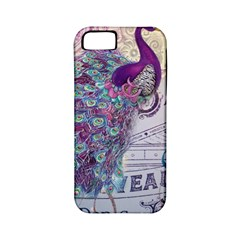 French Scripts  Purple Peacock Floral Paris Decor Apple Iphone 5 Classic Hardshell Case (pc+silicone) by chicelegantboutique