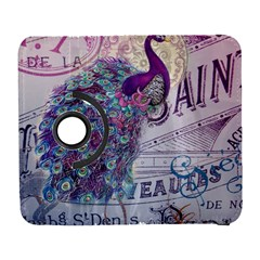 French Scripts  Purple Peacock Floral Paris Decor Samsung Galaxy S  Iii Flip 360 Case by chicelegantboutique