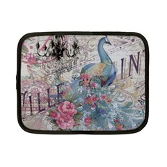 French Vintage Chandelier Blue Peacock Floral Paris Decor Netbook Case (small) by chicelegantboutique