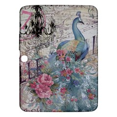 French Vintage Chandelier Blue Peacock Floral Paris Decor Samsung Galaxy Tab 3 (10 1 ) P5200 Hardshell Case  by chicelegantboutique
