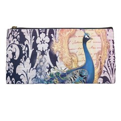Damask French Scripts  Purple Peacock Floral Paris Decor Pencil Case by chicelegantboutique