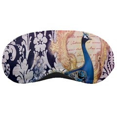 Damask French Scripts  Purple Peacock Floral Paris Decor Sleeping Mask by chicelegantboutique