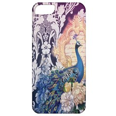 Damask French Scripts  Purple Peacock Floral Paris Decor Apple Iphone 5 Classic Hardshell Case by chicelegantboutique