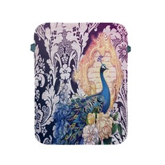 Damask French Scripts  Purple Peacock Floral Paris Decor Apple Ipad 2/3/4 Protective Soft Case by chicelegantboutique