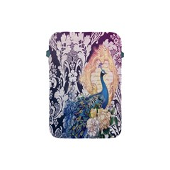 Damask French Scripts  Purple Peacock Floral Paris Decor Apple Ipad Mini Protective Soft Case by chicelegantboutique