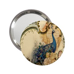 Victorian Swirls Peacock Floral Paris Decor Handbag Mirror (2 25 ) by chicelegantboutique