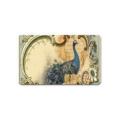 Victorian Swirls Peacock Floral Paris Decor Magnet (name Card) by chicelegantboutique