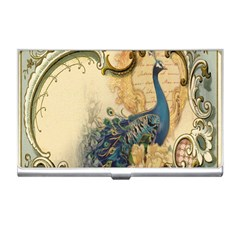 Victorian Swirls Peacock Floral Paris Decor Business Card Holder by chicelegantboutique