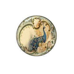 Victorian Swirls Peacock Floral Paris Decor Golf Ball Marker 4 Pack (for Hat Clip) by chicelegantboutique