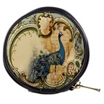 Victorian Swirls Peacock Floral Paris Decor Mini Makeup Case Front