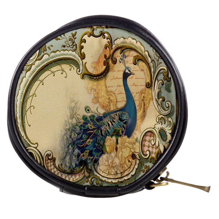 Victorian Swirls Peacock Floral Paris Decor Mini Makeup Case