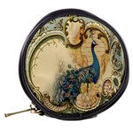 Victorian Swirls Peacock Floral Paris Decor Mini Makeup Case Back