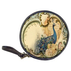Victorian Swirls Peacock Floral Paris Decor Cd Wallet by chicelegantboutique