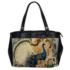 Victorian Swirls Peacock Floral Paris Decor Oversize Office Handbag (one Side) by chicelegantboutique