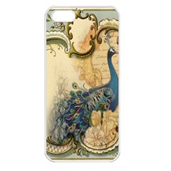 Victorian Swirls Peacock Floral Paris Decor Apple Iphone 5 Seamless Case (white) by chicelegantboutique