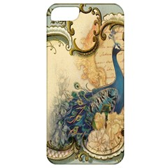 Victorian Swirls Peacock Floral Paris Decor Apple Iphone 5 Classic Hardshell Case by chicelegantboutique