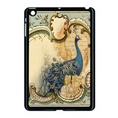 Victorian Swirls Peacock Floral Paris Decor Apple Ipad Mini Case (black) by chicelegantboutique