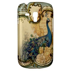 Victorian Swirls Peacock Floral Paris Decor Samsung Galaxy S3 Mini I8190 Hardshell Case by chicelegantboutique