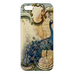 Victorian Swirls Peacock Floral Paris Decor Iphone 5 Premium Hardshell Case by chicelegantboutique